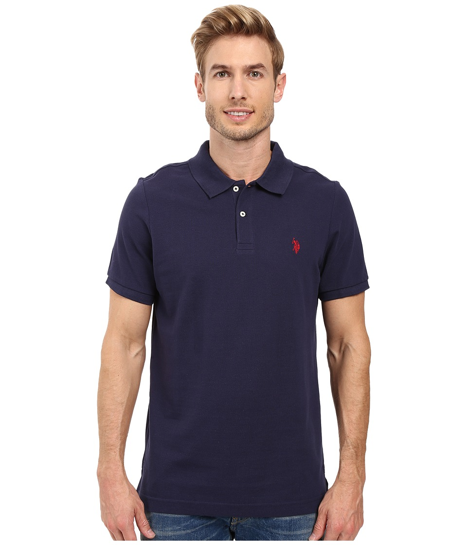 U.S. POLO ASSN. - Solid Cotton Pique Polo with Small Pony (Classic Navy 2) Men