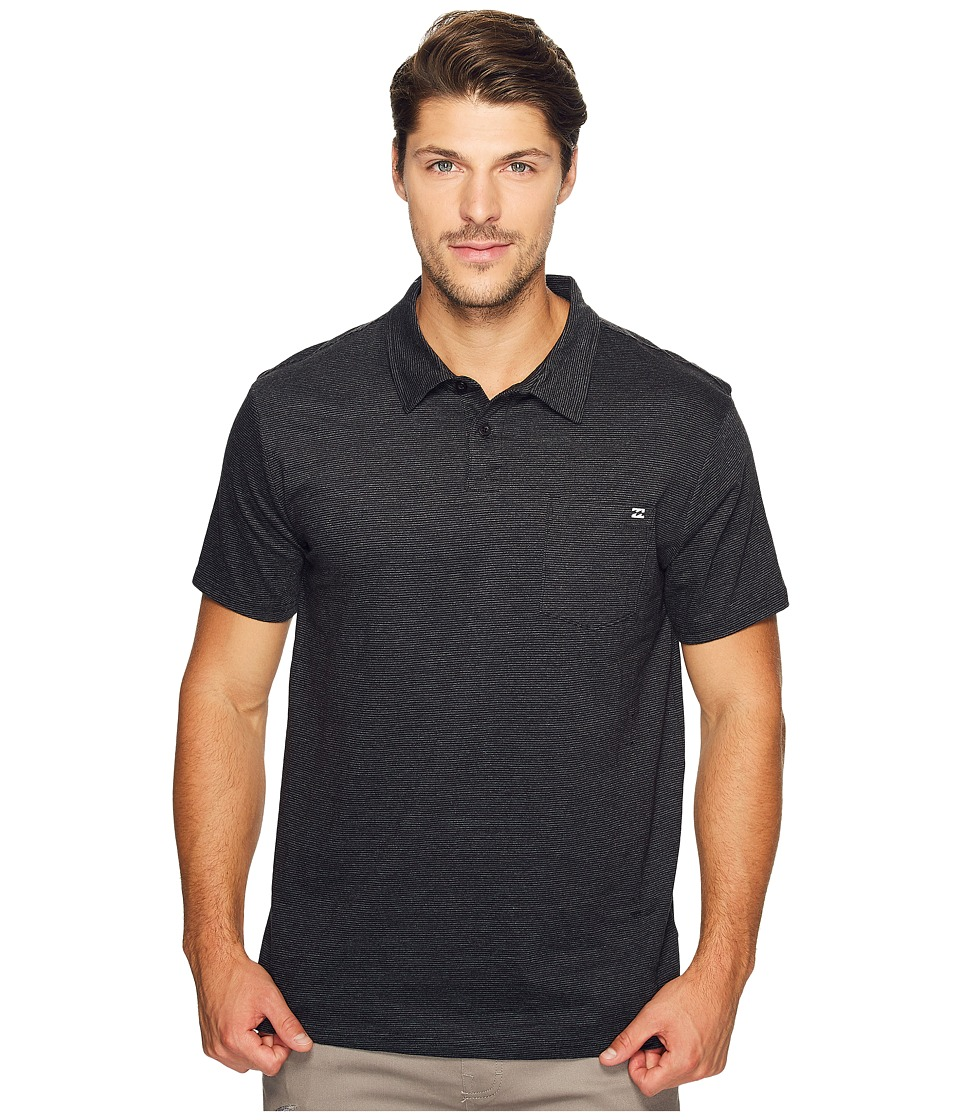 Billabong - Standard Issue Polo Shirt (Black Heather) Men's Clothing