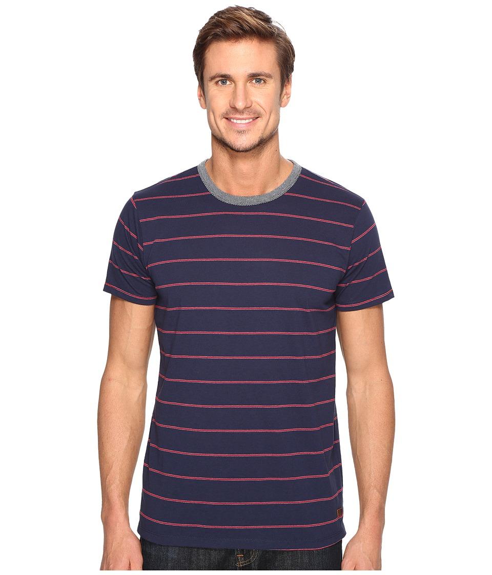 Billabong - Farley Short Sleeve Crew Knit Tops (Navy) Men's Short Sleeve Knit