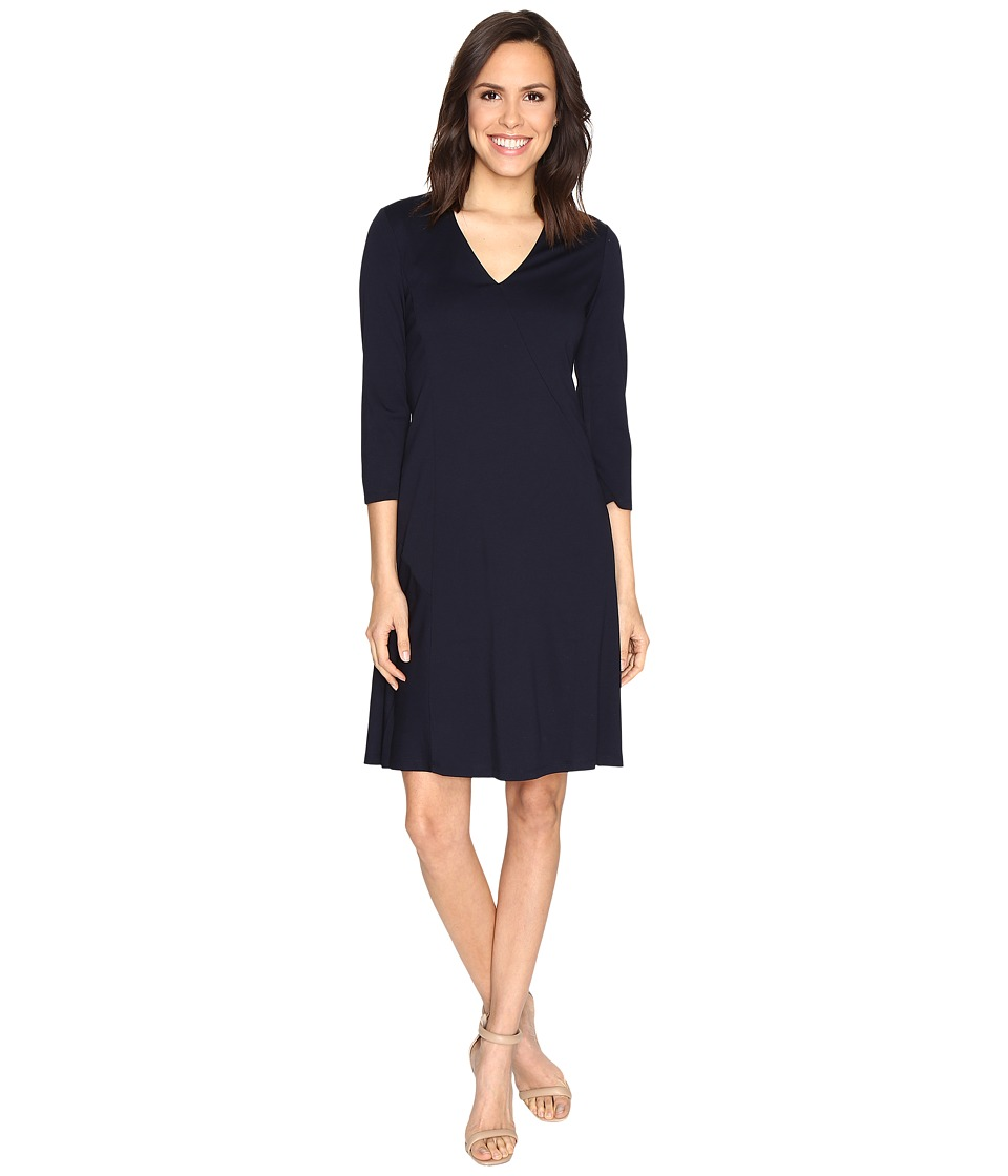 Ellen Tracy - Seamed A-Line Dress (E-Navy) Women's Dress