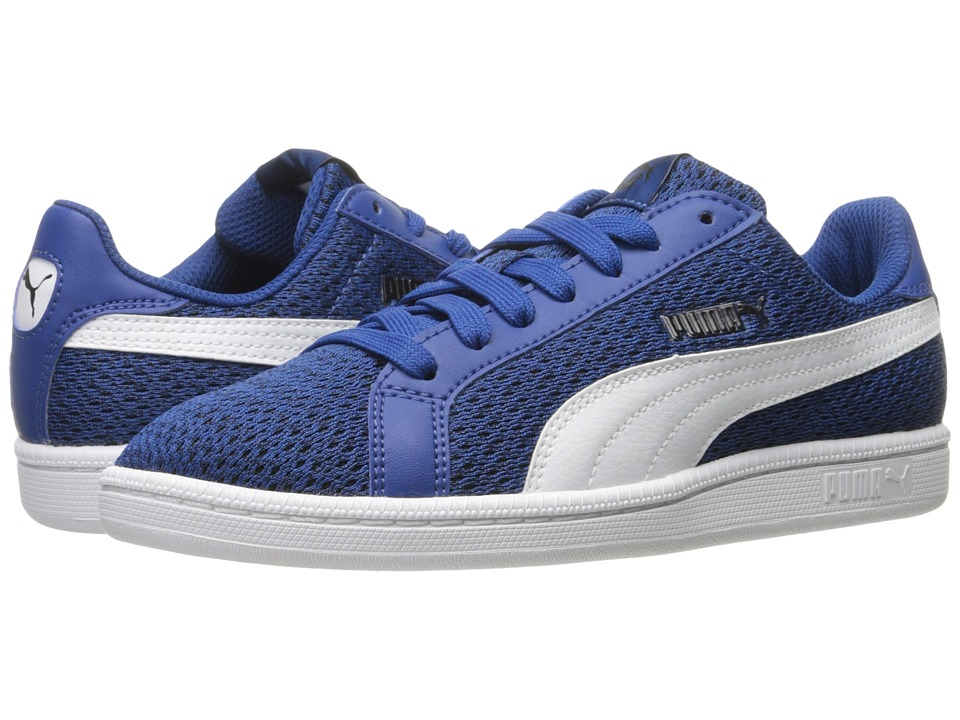 PUMA - Puma Smash Knit (True Blue/Puma White) Men's Shoes