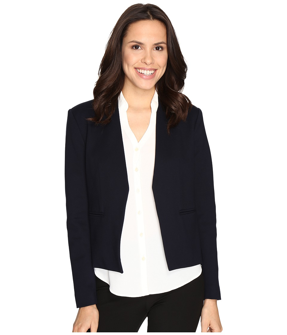 Ellen Tracy - Open Front Jacket (E-Navy) Women's Coat