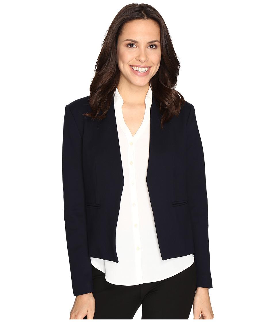 Ellen Tracy - Open Front Jacket (E-Navy) Women's Coat