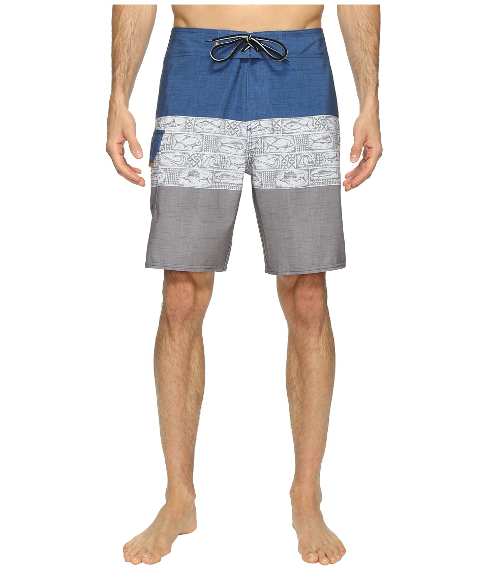 Quiksilver Waterman Fairway Tri Block Boardshorts (Castlerock) Men
