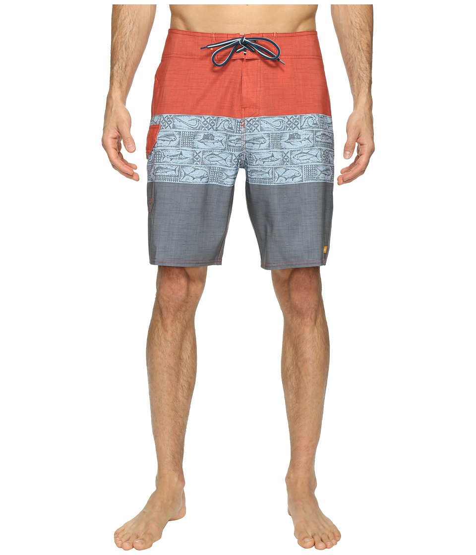 Quiksilver Waterman - Fairway Tri Block Boardshorts (Dark Slate) Men's Swimwear