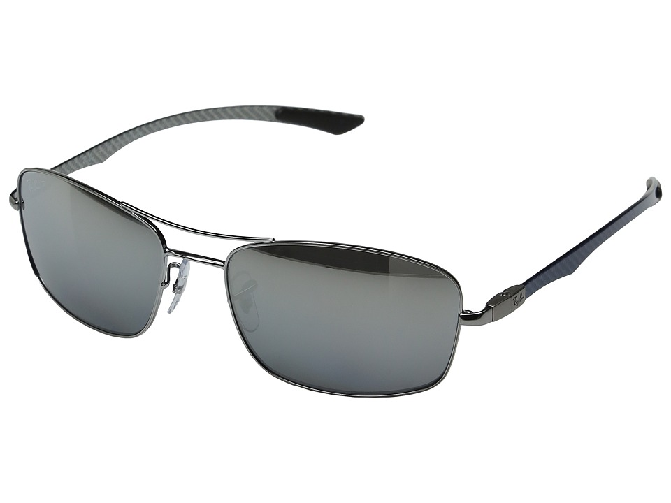 Ray-Ban - 0RB8309 59mm (Silver Grey) Fashion Sunglasses