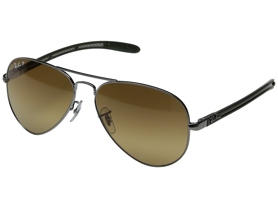 Ray-Ban - 0RB8307 58mm (Silver) Fashion Sunglasses