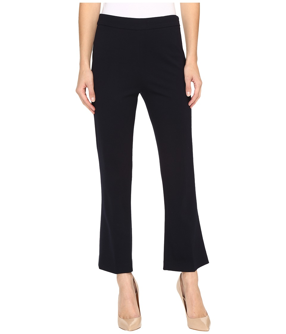Ellen Tracy - Flare Crop Trousers (E-Navy) Women's Casual Pants