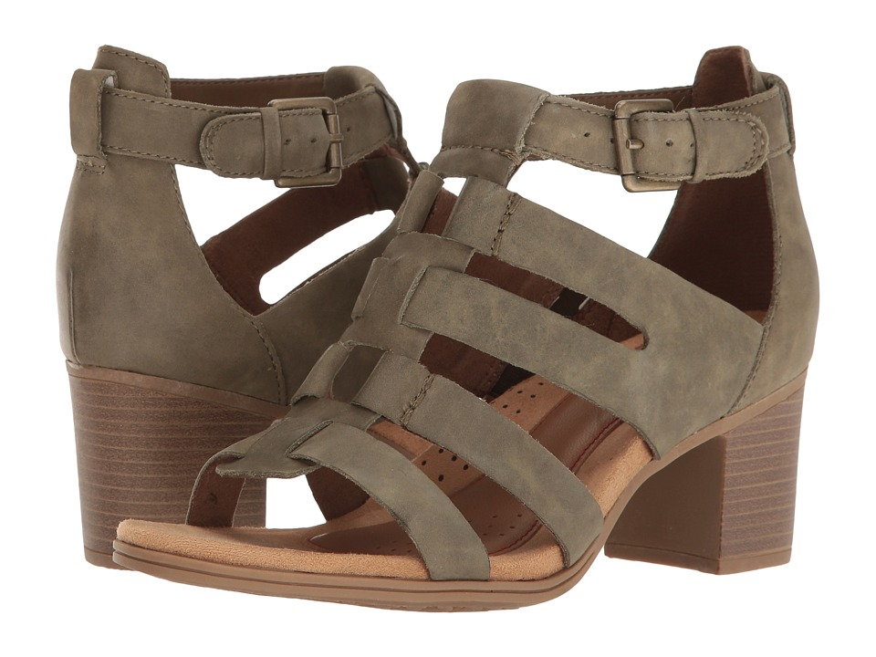 Rockport Cobb Hill Collection Cobb Hill Hattie Gladiator (Green Nubuck) Women