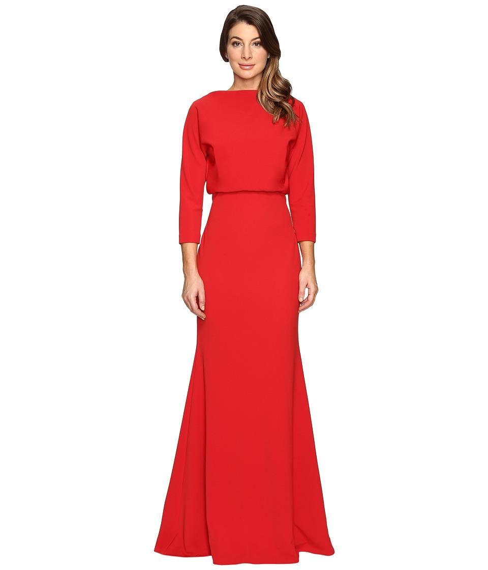 Badgley Mischka - It Dress Blouson Gown (Red) Women's Dress