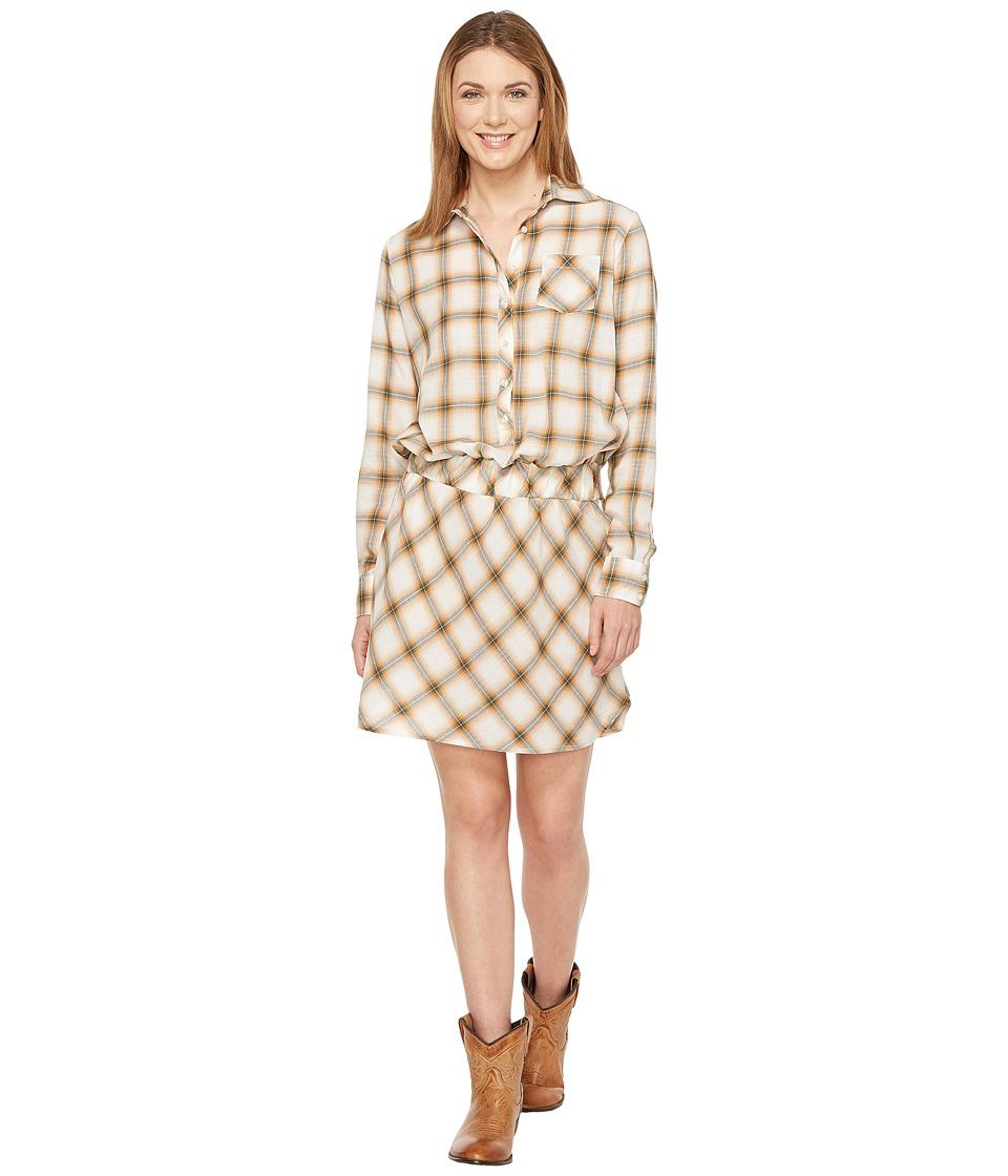 Stetson 0900 Lite Weight Plaid Western Blouse Dress (White) Women