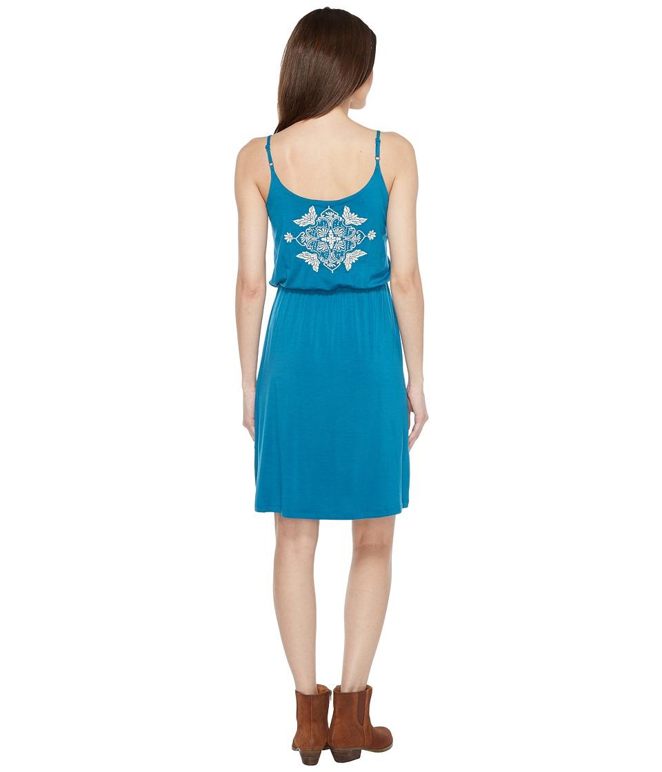 Stetson 0910 Rayon Spandex Jersey Tank Dress (Green) Women