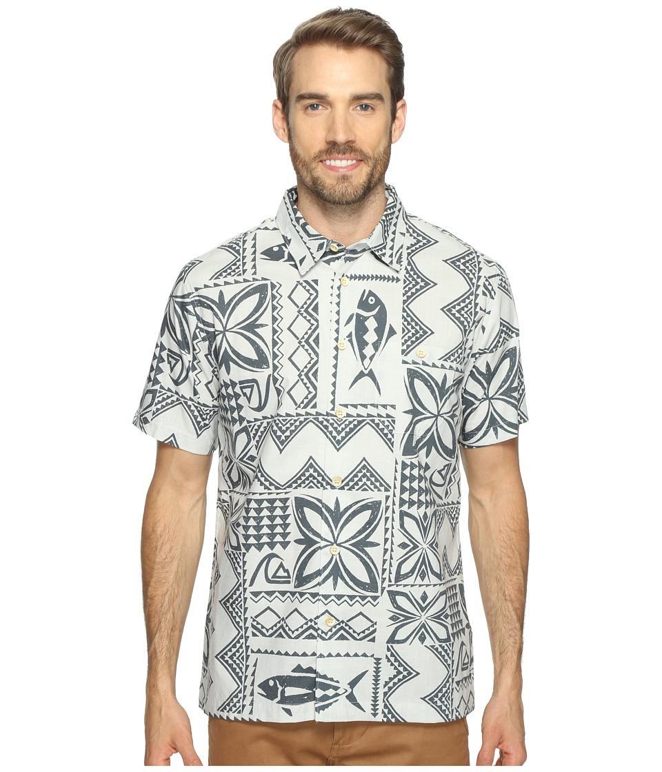 Quiksilver Waterman - Fish Guru Short Sleeve Shirt (Glacier) Men's Clothing