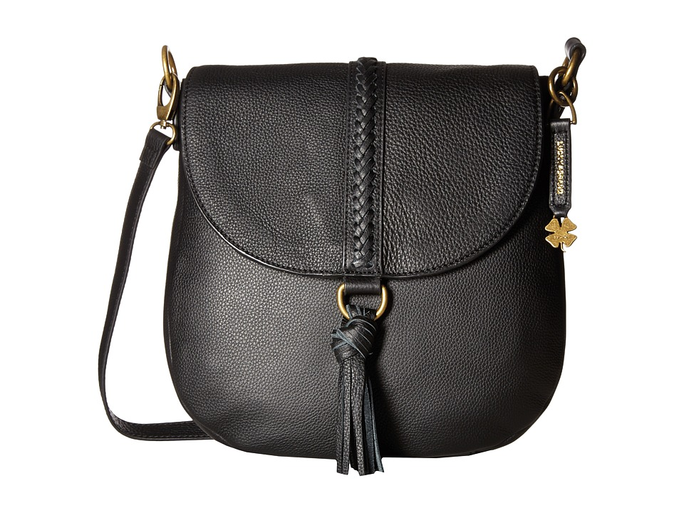 Lucky Brand - Ali Flap Crossbody (Black) Cross Body Handbags