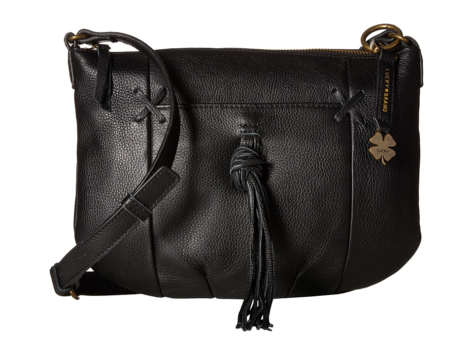 Lucky Brand - Carmen Top Zip Crossbody (Black) Cross Body Handbags