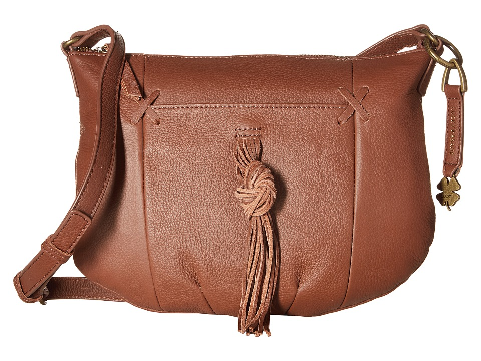 Lucky Brand - Carmen Top Zip Crossbody (Brandy) Cross Body Handbags