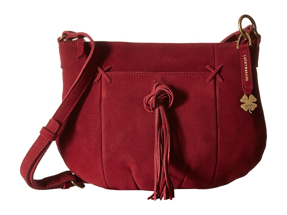 Lucky Brand - Carmen Top Zip Crossbody (Beet) Cross Body Handbags