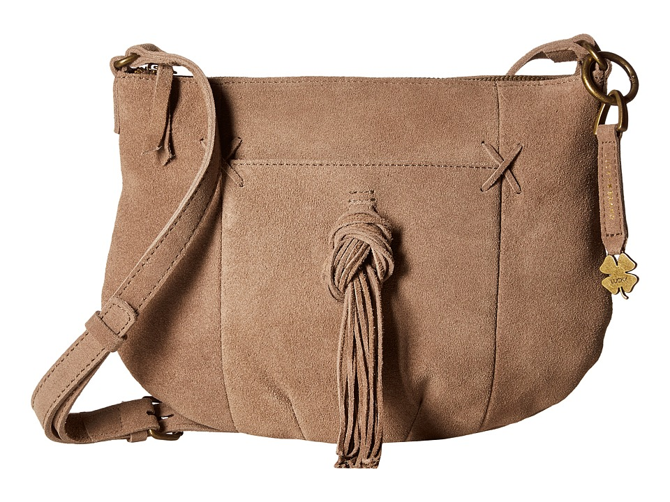 Lucky Brand - Carmen Top Zip Crossbody (Smoke) Cross Body Handbags