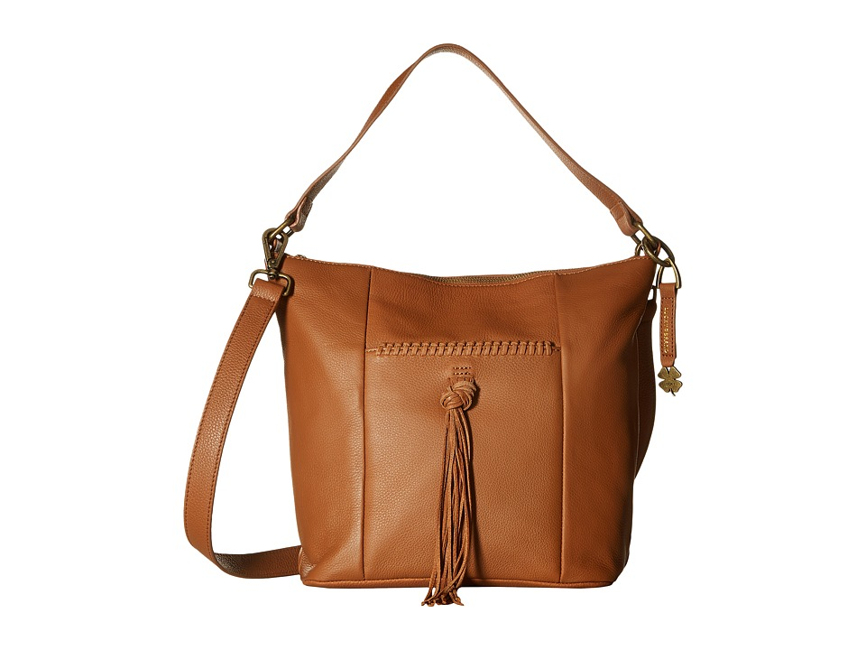 Lucky Brand - Carmen Top Zip Bucket Crossbody (Tobacco) Cross Body Handbags