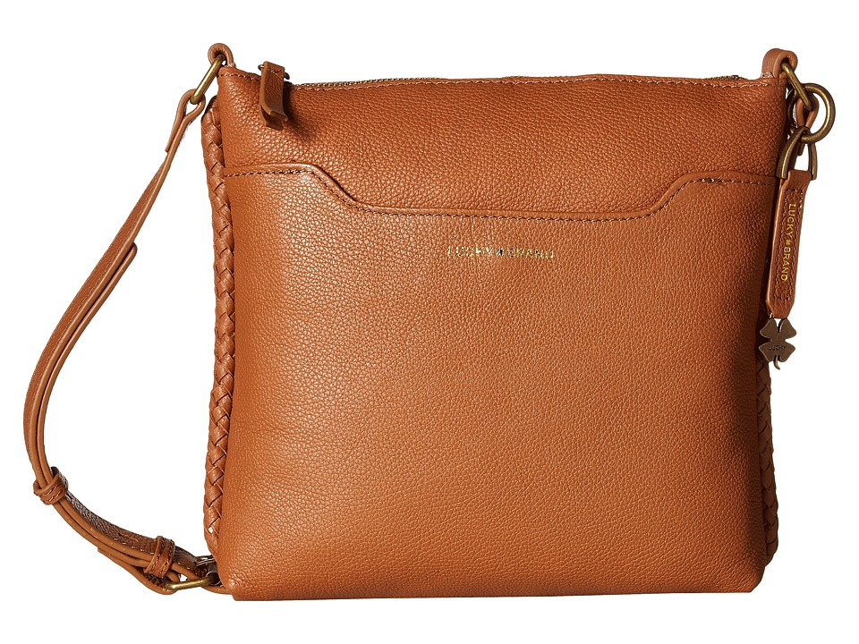 Lucky Brand - Ali Top Zip Crossbody (Tobacco) Cross Body Handbags