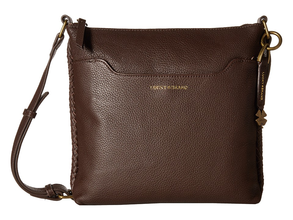 Lucky Brand - Ali Top Zip Crossbody (Chocolate) Cross Body Handbags