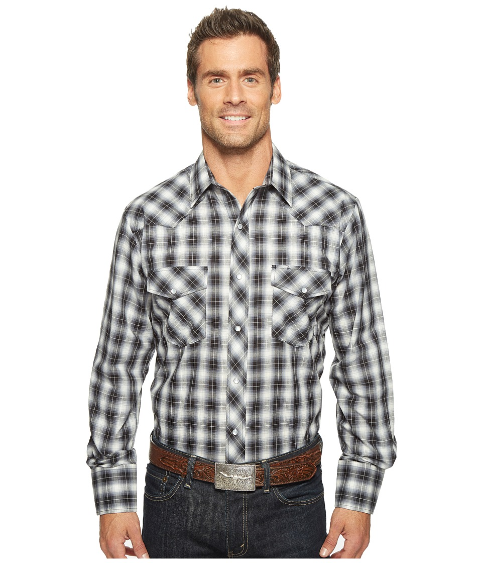 Roper - 921 Silver Mine Plaid with Silver Lurex (Grey) Men's Clothing