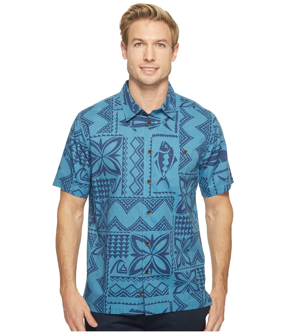 Quiksilver Waterman - Fish Guru Short Sleeve Shirt (Provencial) Men's Clothing