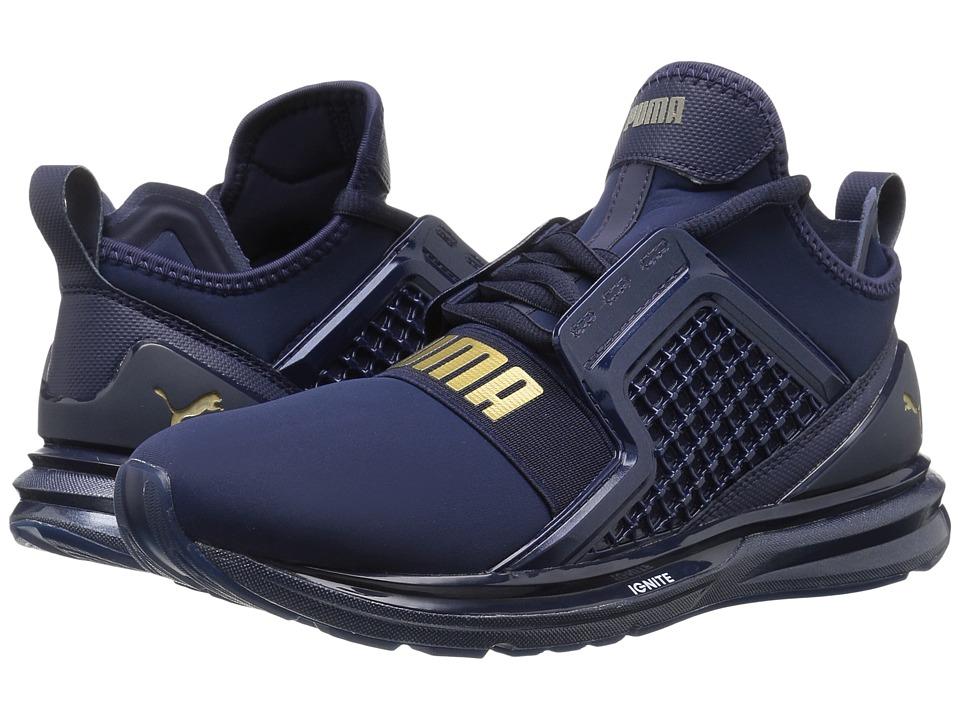 PUMA - Ignite Limitless Metallic (Peacoat) Women's Running Shoes