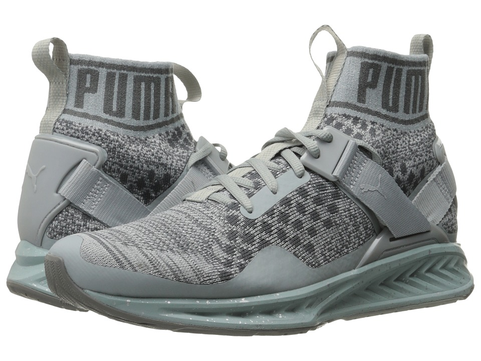 PUMA Ignite evoKNIT Metal (Quarry/Quiet Shade/Puma Silver) Women