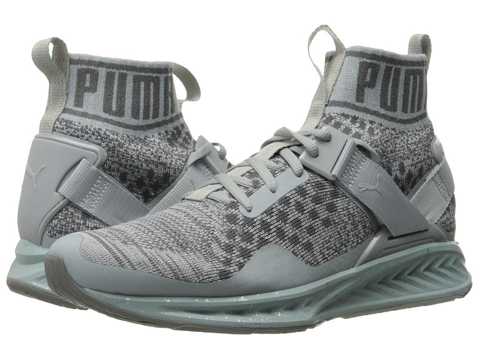 PUMA - Ignite evoKNIT Metal (Quarry/Quiet Shade/Puma Silver) Women's Running Shoes