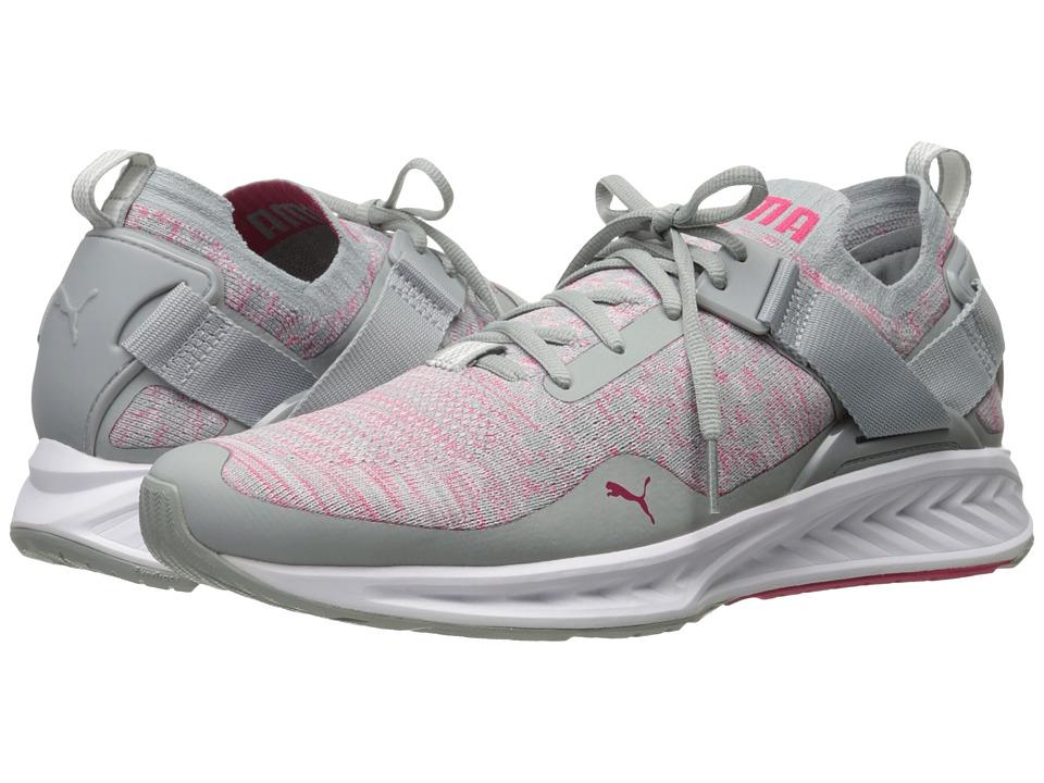 PUMA - Ignite evoKNIT Lo (Quarry/Sparkling Cosmo/Puma White) Women's Running Shoes
