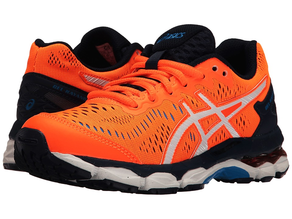 ASICS Kids - Gel-Kayano 23 GS (Little Kid/Big Kid) (Shocking Orange/White/Blue) Boys Shoes
