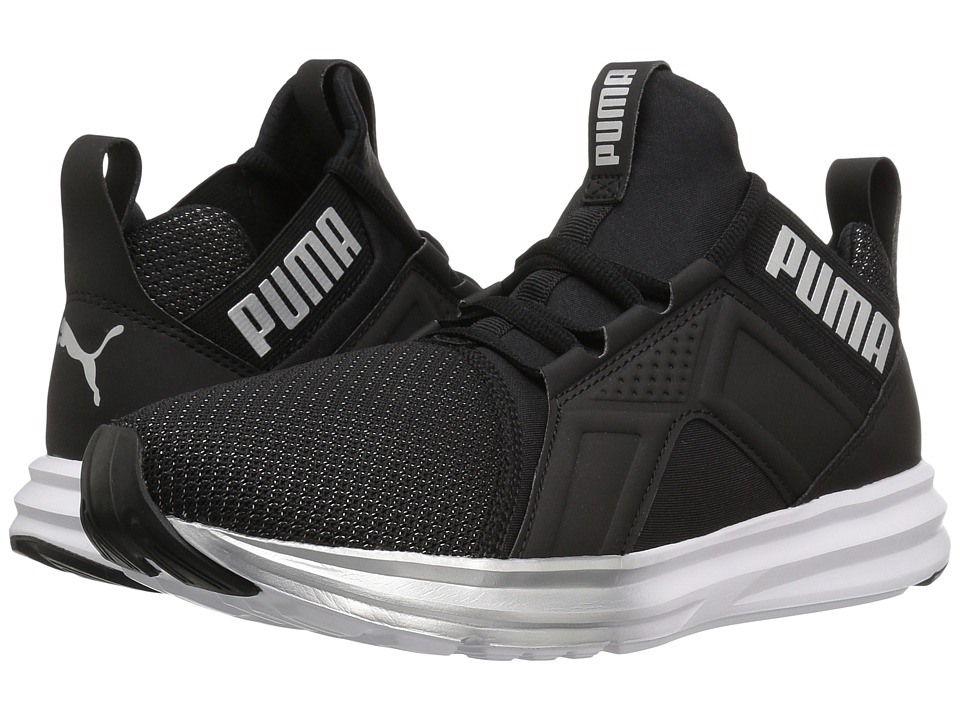 PUMA - Enzo Metallic (Puma Black/Puma Silver) Women's Running Shoes