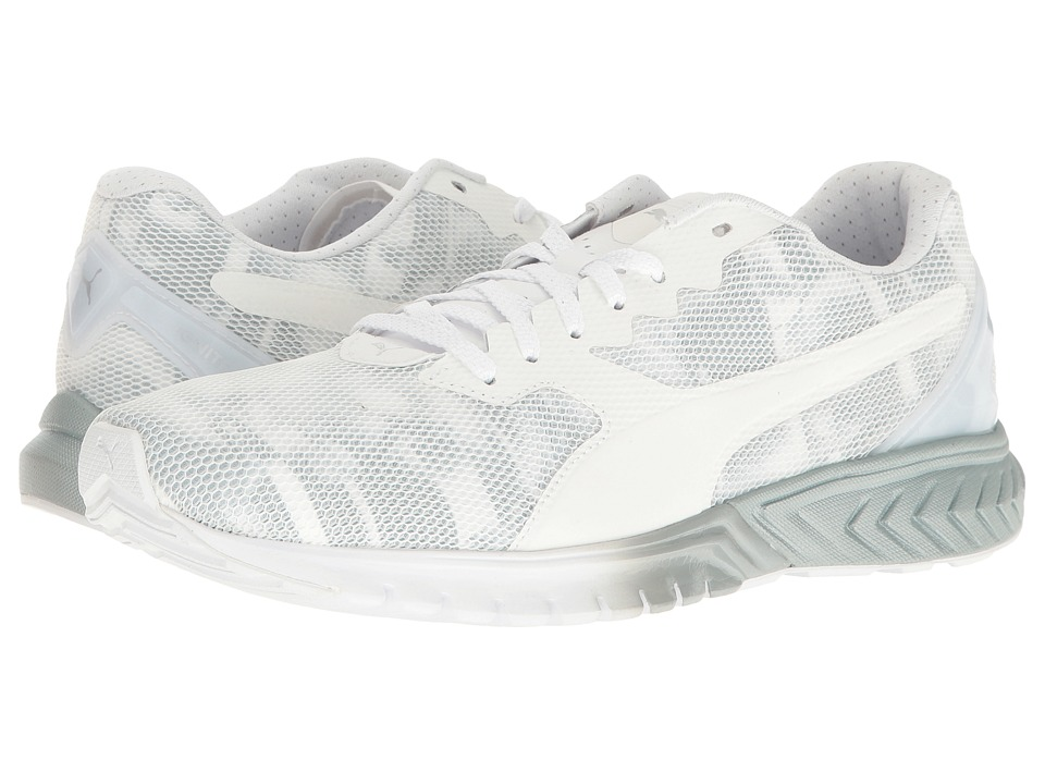 PUMA - Ignite Dual Swan (Puma White/Quarry) Women's Running Shoes