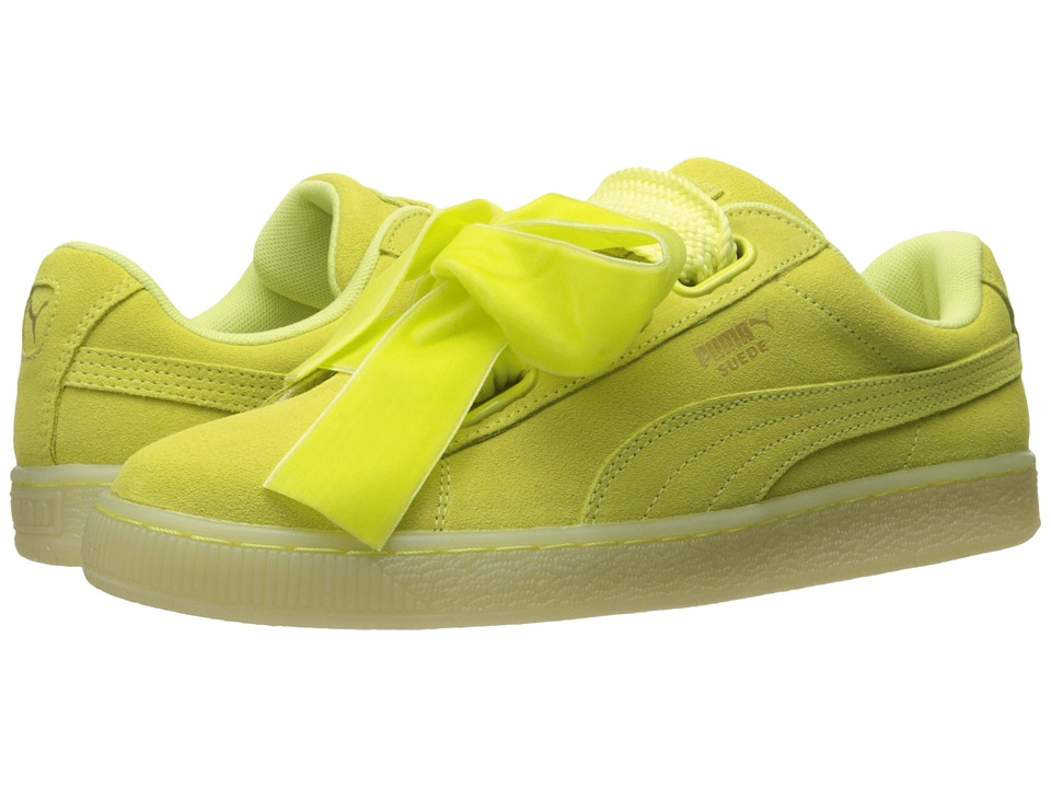 PUMA - Suede Heart Reset (Soft Fluo Yellow/Soft Fluo Yellow) Women's Shoes