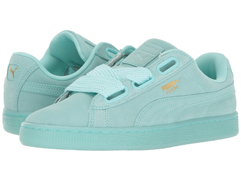 PUMA - Suede Heart Reset (Aruba Blue/Aruba Blue) Women's Shoes