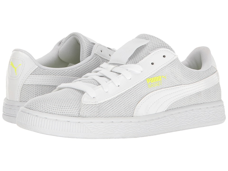 PUMA - Basket Reset (Puma White/Puma White) Women's Shoes
