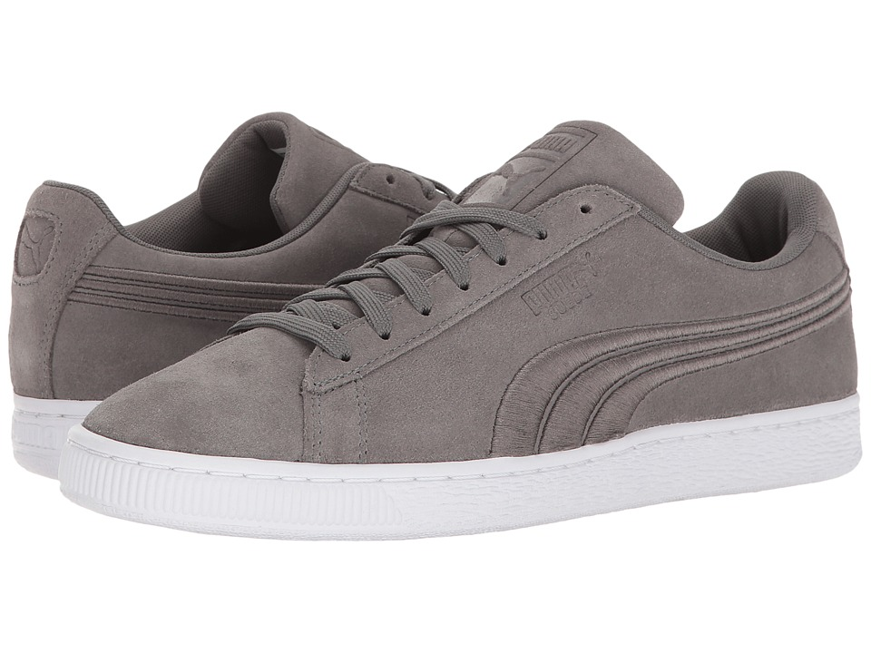 PUMA - Suede Classic Badge (Quiet Shade) Men's Shoes