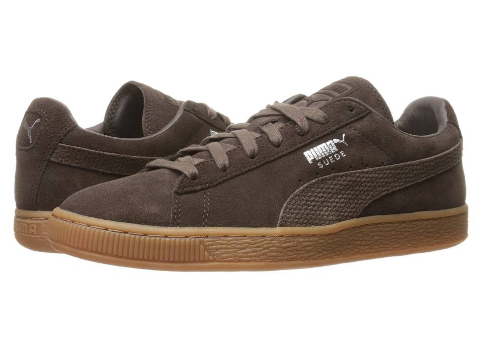 PUMA - Suede Classic Citi (Black Coffee) Men's Shoes