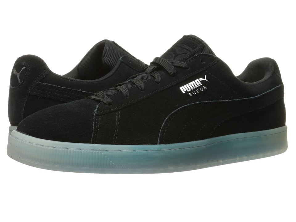 PUMA - Suede Classic Explosive (PUMA Black/Blue Danube) Men's Shoes