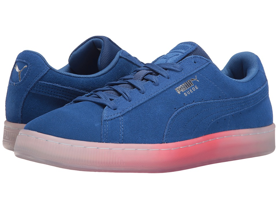 PUMA - Suede Classic Explosive (True Blue/Bright Plasma) Men's Shoes