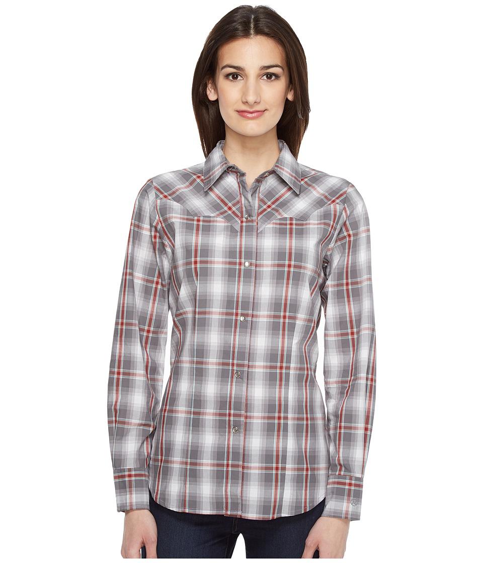 Roper - 0833 Shadow Plaid (Grey) Women's Clothing