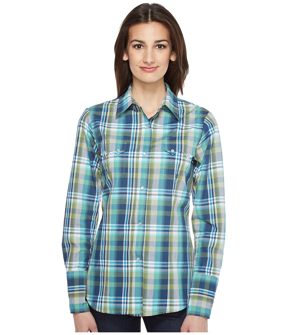 Roper - 0830 Water Check Plaid (Blue) Women's Clothing