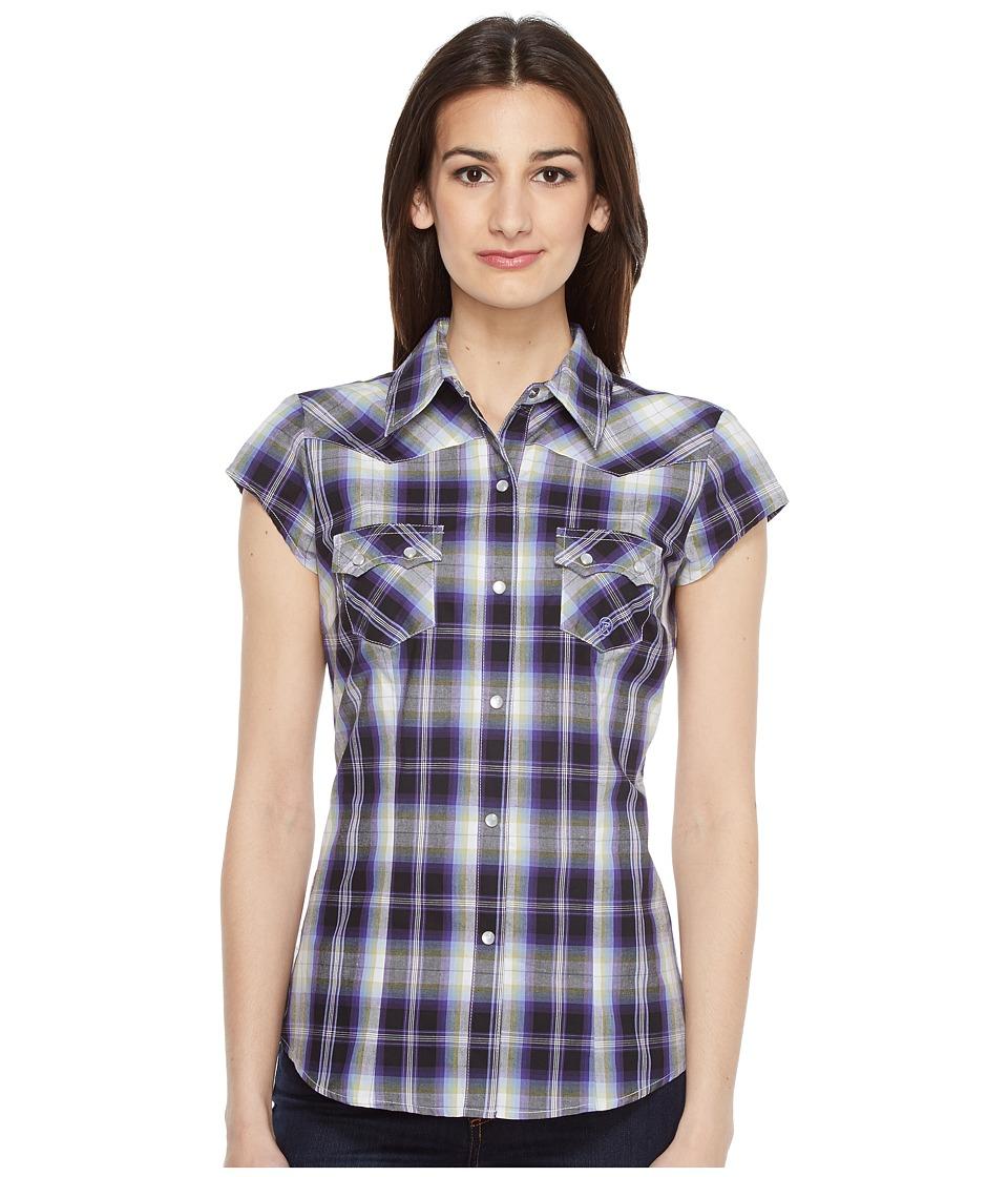 Roper - 0834 Driftwood Plaid (Blue) Women's Clothing