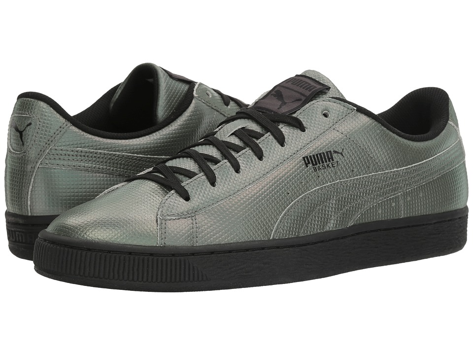PUMA - Basket Classic Holographic (PUMA Black) Men's Shoes