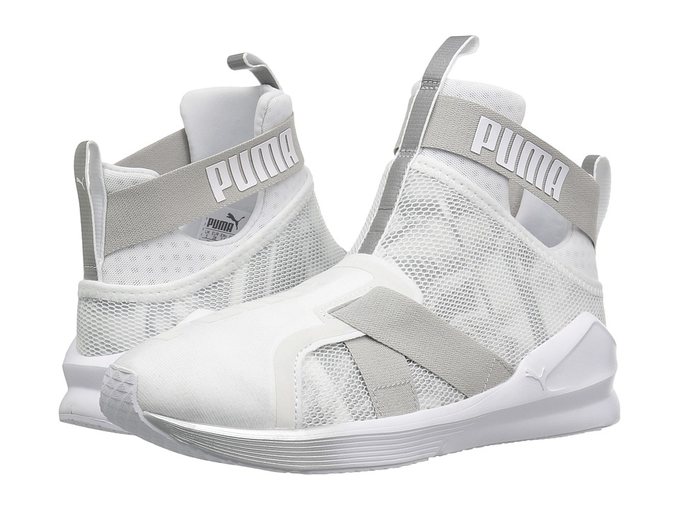 PUMA - Fierce Strap Swan (Puma White/Puma White) Women's Shoes