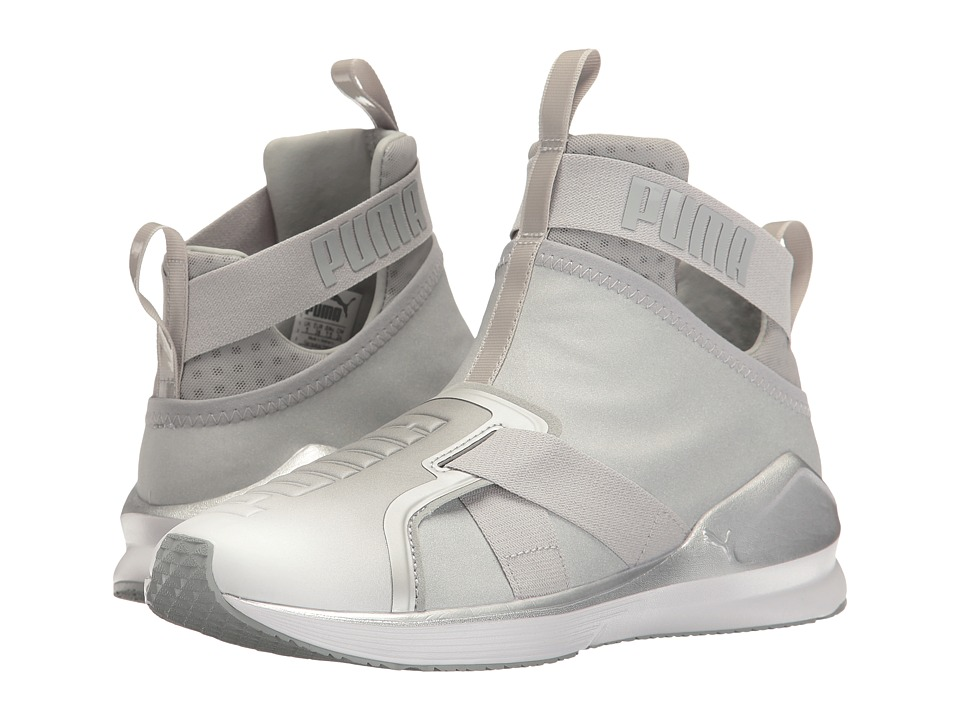 PUMA - Fierce Strap Metallic (Puma Silver/Puma White) Women's Shoes