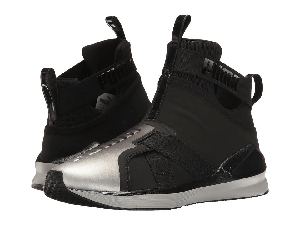 PUMA - Fierce Strap Metallic (Puma Black/Puma Silver) Women's Shoes