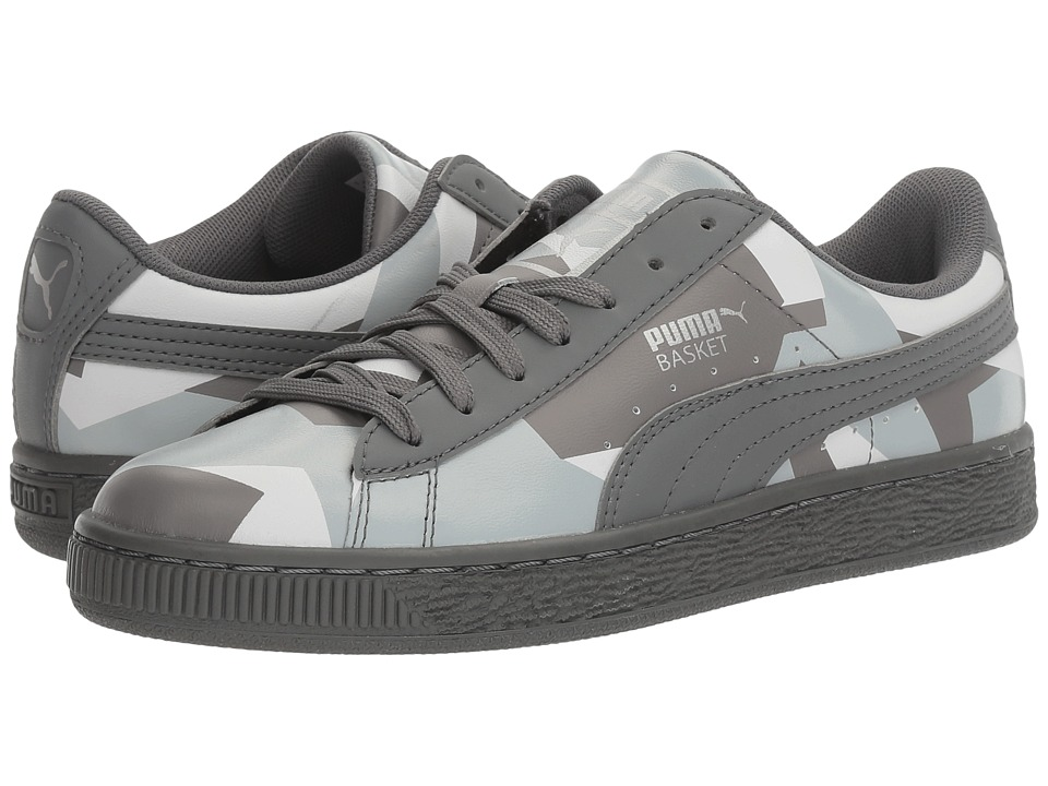 PUMA - Basket Classic Graphic (Quiet Shade/Quarry/Puma White) Men's Shoes