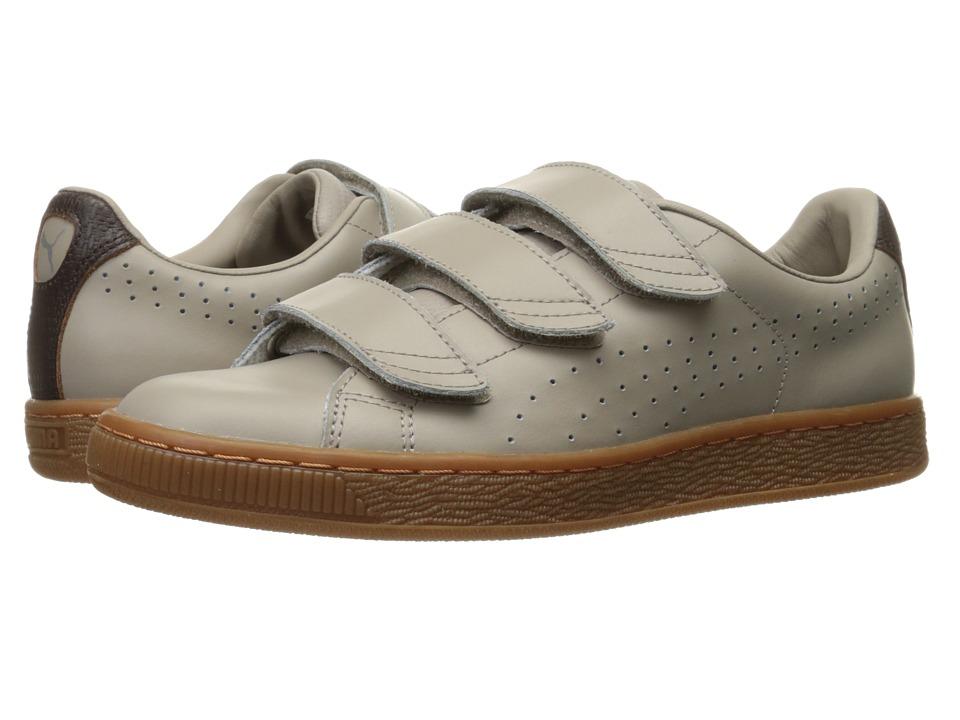 PUMA - Basket Classic Strap Citi (Vintage Khaki/Black Coffee) Men's Shoes